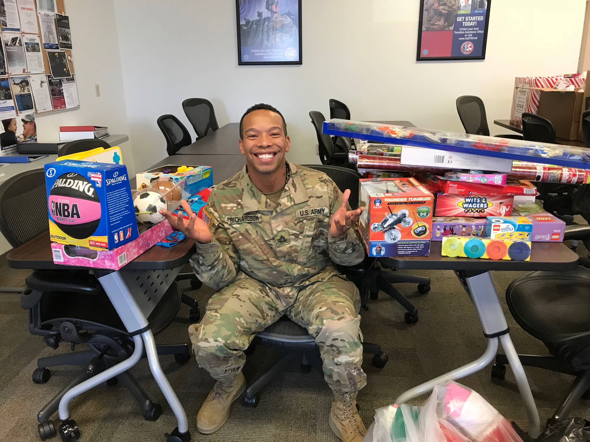 OTS 2017 - Father of five happy to take some toys home from MacDill AFB