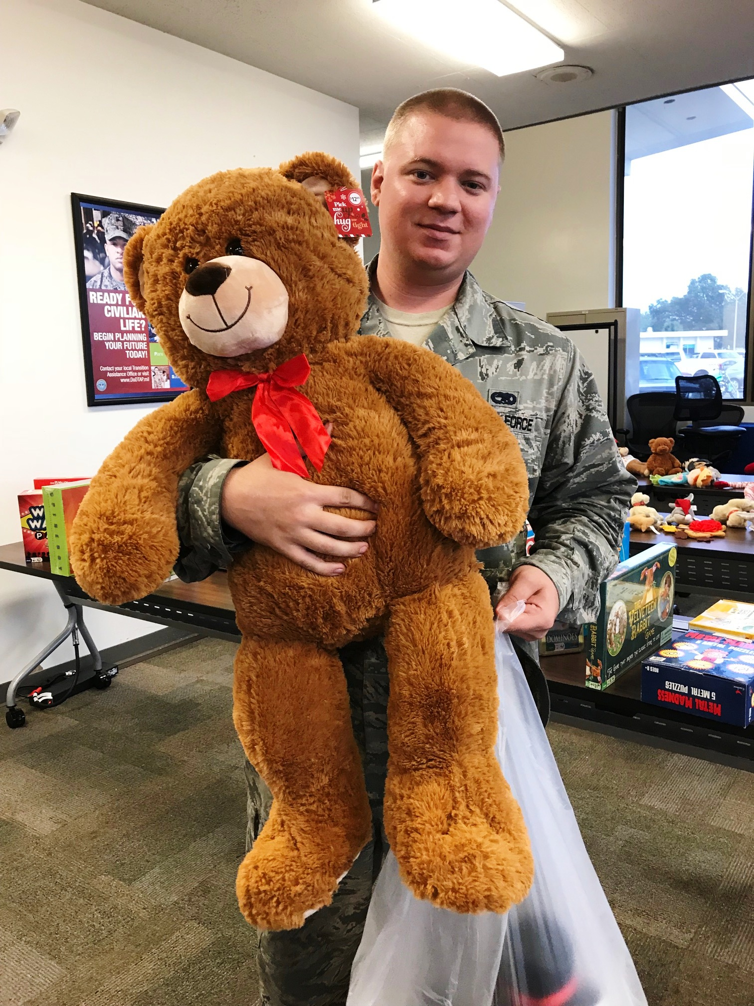 OTS 2017 - Teddy bear finds a home at MacDill AFB